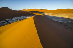 View of red dunes in the Namib Desert, Sossusvlei, Namibia Stock Photography