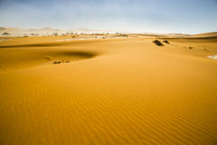 View of red dunes in the Namib Desert, Sossusvlei, Namibia Royalty Free Stock Images