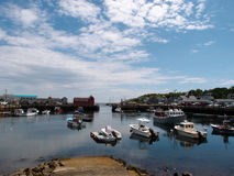 View of the red fisherman shack which is a landmark and sightsee Royalty Free Stock Photo