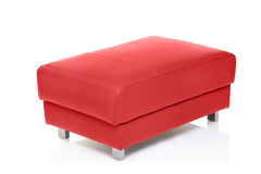 A view of a red footstool Royalty Free Stock Photo