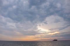 Views of Red Island, Rovinj, Croatia stock photo