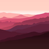 View of  red mountains. Royalty Free Stock Photo