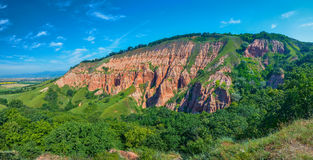 View of the Red Ravine (Rapa Rosie), Romania Stock Photos