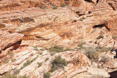 View of Red Rock Canyon in the Mojave Desert. Stock Photo