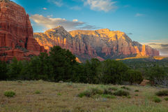 View of Red Rock Formations in Sedona Stock Photos