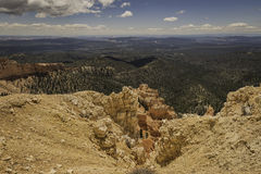 View of red rocks in Bryce Canyon Stock Image