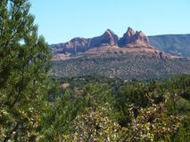 Red Rocks of Sedona, Arizona. View of red rocks of Sedona, Arizona from Adobe Jack trail in March Stock Photo