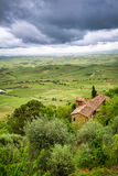 View of the red roof and green valley in Montepulciano Royalty Free Stock Photo