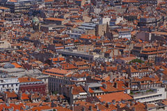 View on red roofs of buildings in Marseille Stock Photos