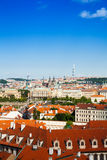 View on red roofs in Prague, Czech Republic Royalty Free Stock Photo