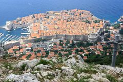 The view of red rooftops of Dubrovnik Stock Photography