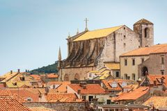 The view of red rooftops of Dubrovnik Royalty Free Stock Photos