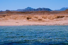 View of the Red Sea and coast Sinai, Egypt Royalty Free Stock Photography