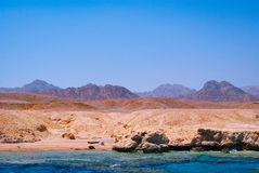 View of the Red Sea and coast Sinai, Egypt Royalty Free Stock Images