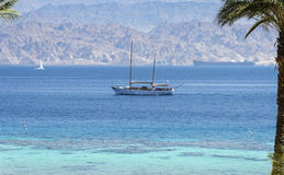View on the Red sea  from Coral beach, Eilat, Israel Stock Photos