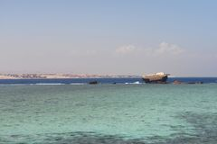 View of the red sea in Egypt stock photo