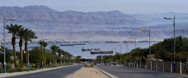 View on the Red Sea, Eilat, Israel Stock Photos