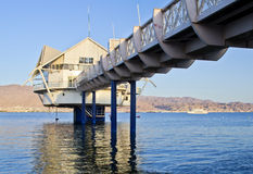 View on the Red Sea from Eilat, Israel stock photography