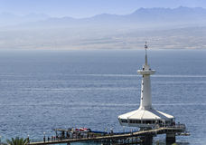 View on the Red sea and marine underwater observatory, Eilat, Israel Royalty Free Stock Photo