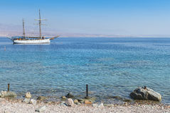 View on the Red Sea near Eilat, Israel Royalty Free Stock Photography