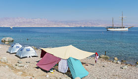View on the Red Sea near Eilat, Israel Stock Images