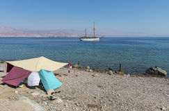 View on the Red Sea near Eilat, Israel Royalty Free Stock Photo