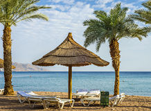 View on the Red sea  from North beach, Eilat, Israel Royalty Free Stock Images