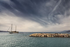 View on the Red sea from North beach of Eilat Stock Image