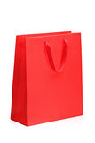 A view of a red shopping bag Stock Images