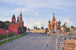 View of the Red Square and Kremlin towers in Moscow, Russia Stock Image