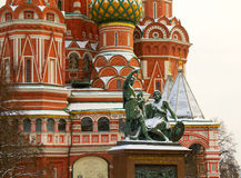 The view from red Square Monument to Minin and Pozharsky Stock Image