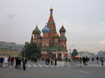 The view of red square in Russia. Stock Images