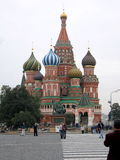 The view of red square in Russia. Stock Photos