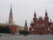 The view of red square in Russia. Royalty Free Stock Photography