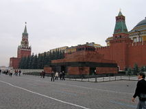 The view of red square in Russia. Royalty Free Stock Photos