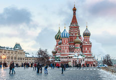 View of the Red Square and St. Basil's Cathedral Stock Images