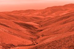View of the red terrestrial planet. Space concept royalty free stock image