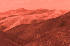 View of the red terrestrial planet. Space concept royalty free stock photography