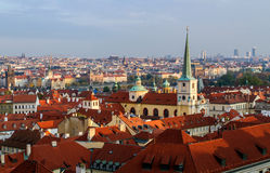 View of red tile roofs in the Lesser Town, in Prague, Czech Republic stock images