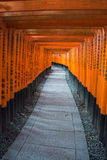 View of Red Tori Gate at Fushimi Royalty Free Stock Photo