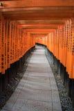 View of Red Tori Gate at Fushimi Royalty Free Stock Image