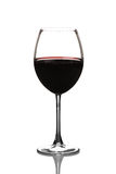 View of a red wine glass Stock Image