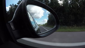View reflected in car window, 4K stock footage