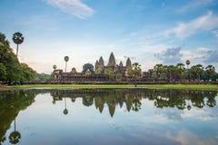 Reflection of an Angkor Wat in Siem Reap, Cambodia. View of the reflection of an Angkor Wat in Siem Reap, Cambodia royalty free stock photos