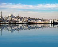 View with reflection from Bosphorus channel. Stock Photography