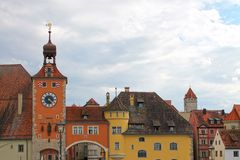 View of Regensburg, Bavaria, Germany. royalty free stock photos