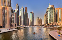 View of the region of Dubai - Dubai Marina Royalty Free Stock Photos