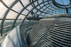 View of Reichstag dome in Berlin, Germany. Royalty Free Stock Images