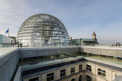 View of Reichstag dome on roof top Stock Photography