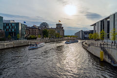 View of the Reichstag from the River Spree Stock Photo